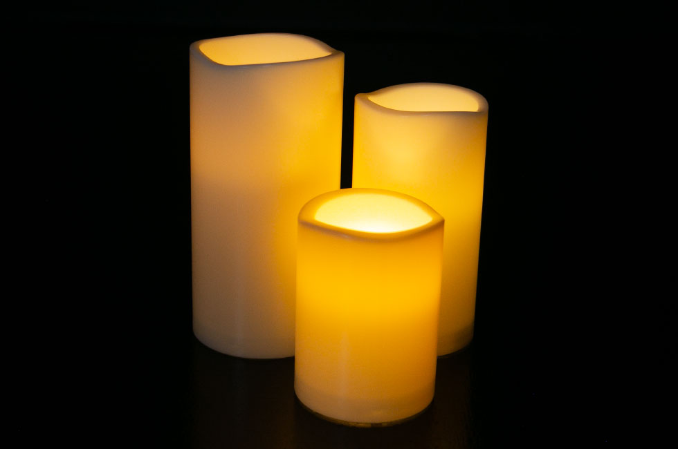 LEDキャンドル(点灯時)