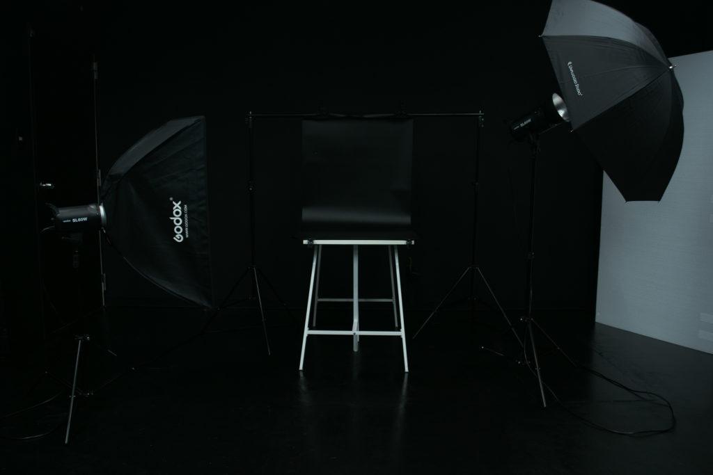 有料オプション 商品撮影用テーブルセッティング(黒)