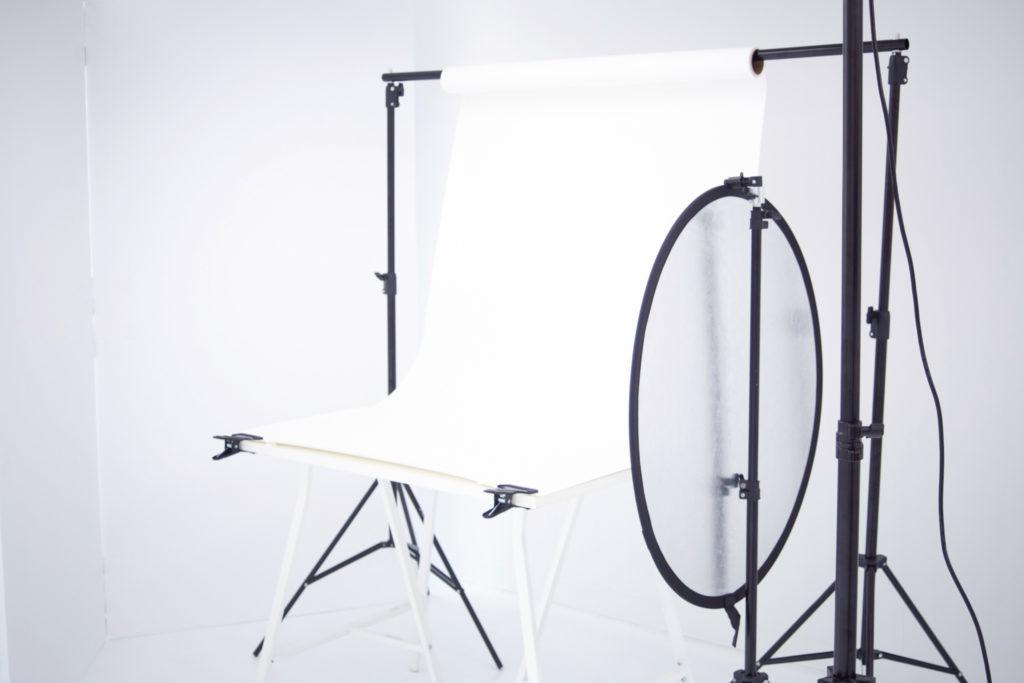 有料オプション 商品撮影用テーブルセッティング(白)
