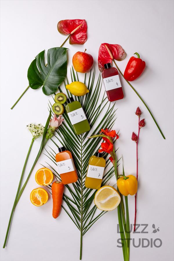 ブランドイメージに沿ったお花を使って生き生きとした撮影